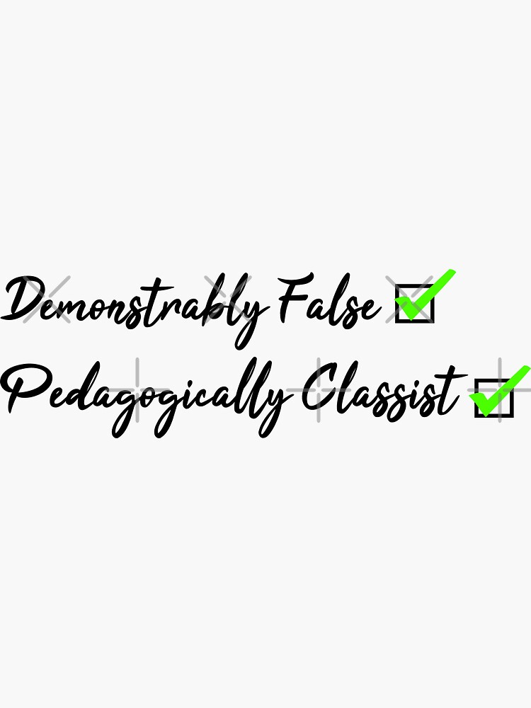 The Simple Narrative Taught in Every History Class is Demonstrably False and Pedagogically Classist by PigNose