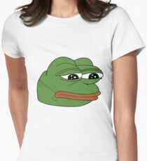 Pepe the Sad Frog Womens Fitted T-Shirt