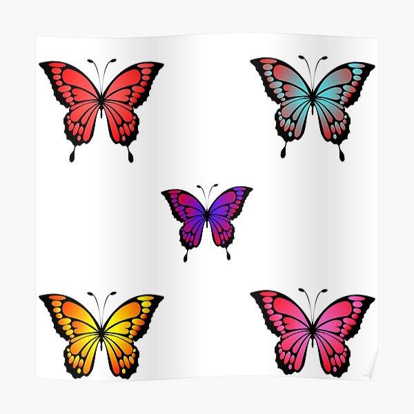 Cute Butterfly Pattern- Lovely Poster