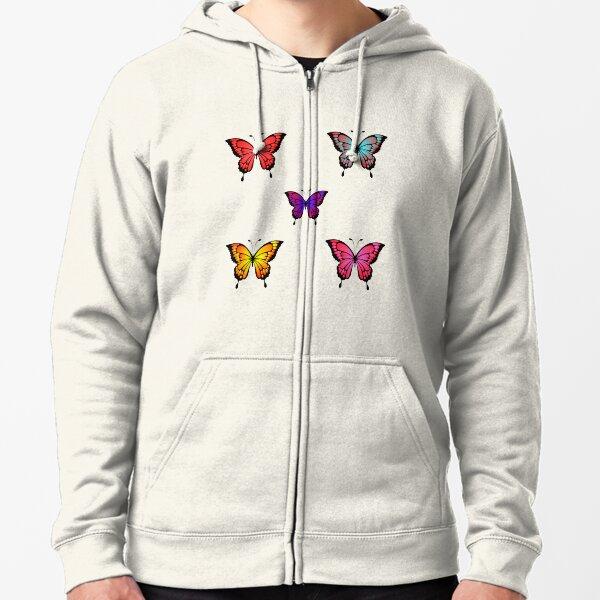 Cute Butterfly Pattern- Lovely Zipped Hoodie