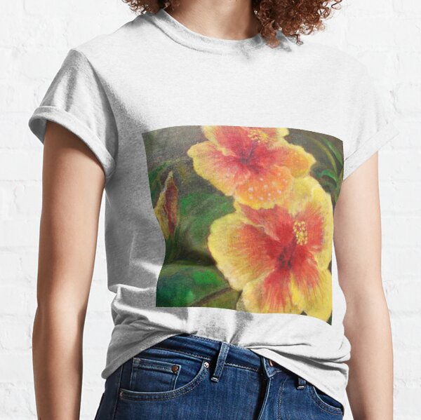 HIbiscus oil paint by Junko  Classic T-Shirt