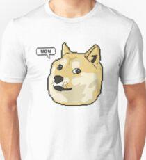 wow pixel shibe doge T-Shirt