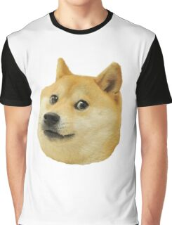 shibe doge face Graphic T-Shirt