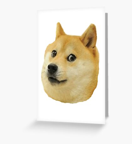 shibe doge face Greeting Card