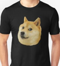 shibe doge face Unisex T-Shirt