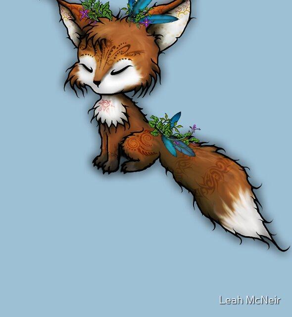 Spirit Fox - Totem Animal  by Leah McNeir