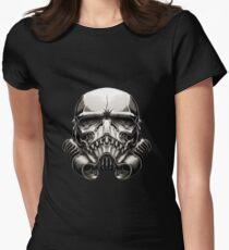 Skeleton Stormtrooper Helm Women's Fitted T-Shirt