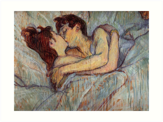 Im Bett der Kuss von Henri de Toulouse-Lautrec von catfantastic