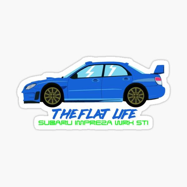"Subaru Impreza STI ""The Flat Life"" Sticker"