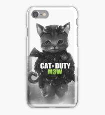 Cat of Duty M3w iPhone Case/Skin