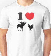 I Heart Moose Cock Unisex T-Shirt