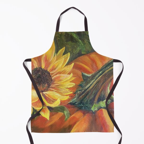 Fall Favorites - Pumpkins and Sunflowers Apron