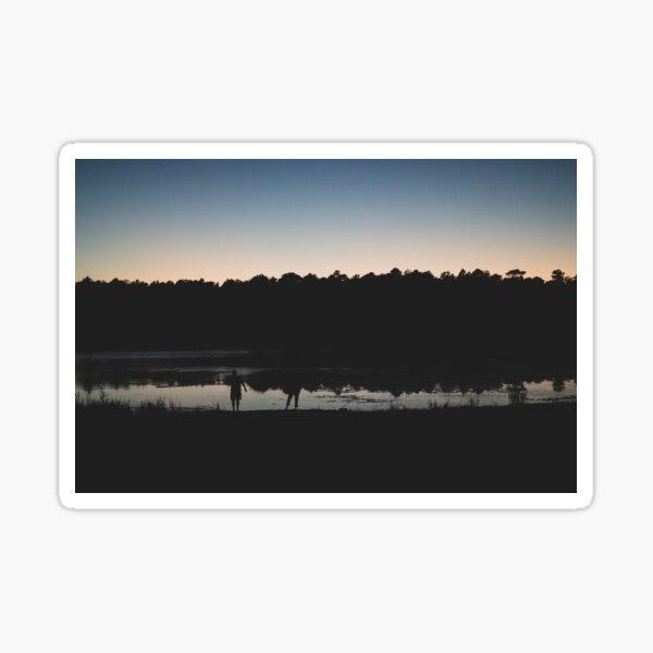 Sunset Over Lake Sticker