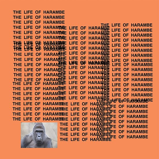 Harambe - The Life of Harambe by Offensive Apparel