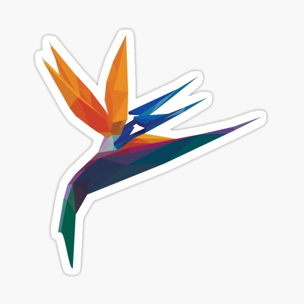 Crystal Bird of Paradise  Sticker