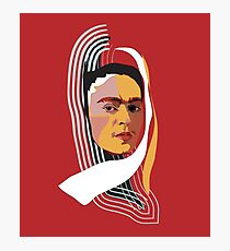 Abstract Frida Kahlo Photographic Print