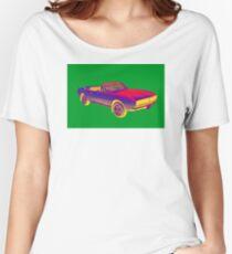 1967 Convertible Camaro Muscle Car Pop Art Women's Relaxed Fit T-Shirt