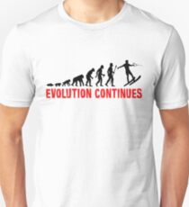Funny Waterskiing Evolution Continues T-Shirt