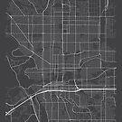 Spokane Karte, USA - Grau von MainStreetMaps