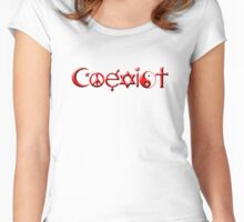 Coexist 0002 Women's Fitted Scoop T-Shirt