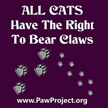 Right to Bear Claws - Black & White by PawProject