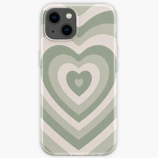 ästhetische Handyhülle mit grünem Herz iPhone Flexible Hülle