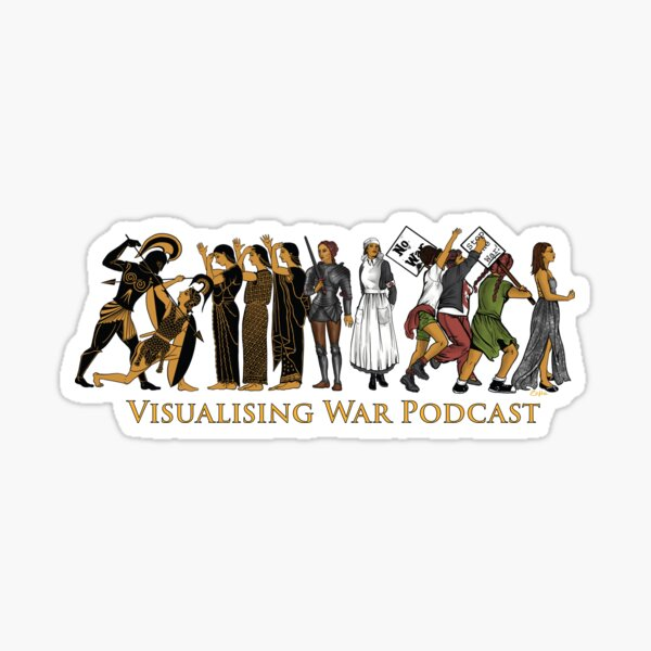 Visualising War podcast cover v.2 Sticker