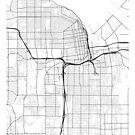 Tacoma Karte, USA - schwarz und weiß von MainStreetMaps