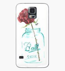 Mason Jar Rose Case/Skin for Samsung Galaxy