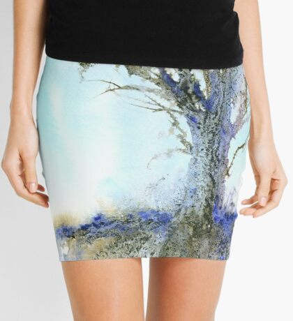 Reaching for the Sky (Original painting sold) Mini Skirt