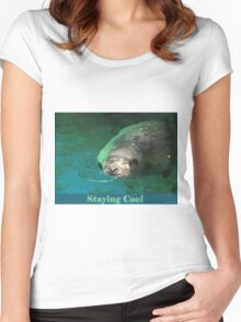 Staying Cool Women's Fitted Scoop T-Shirt