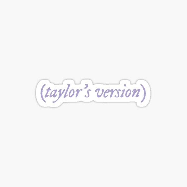 taylor's version - lavender Sticker