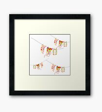 Crystal's Washing on the line Framed Print