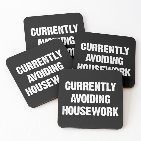 National No Housework Day Coasters (Set of 4)