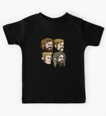MASTODON cartoon quartet Kids Tee