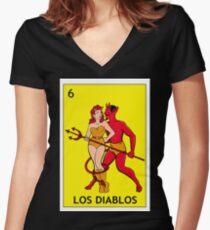 Los Diablitos Women's Fitted V-Neck T-Shirt