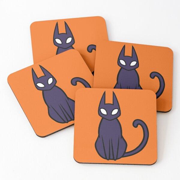 Moka Rafe, The Demon Cat (Autumnal Orange)  Coasters (Set of 4)