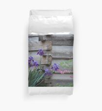 Iris By The Cabin Duvet Cover