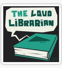 The Loud Librarian Logo Sticker