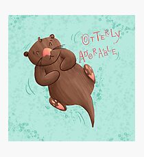 Otterly Adorable Photographic Print
