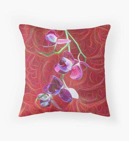 Phalaenopsis B Throw Pillow