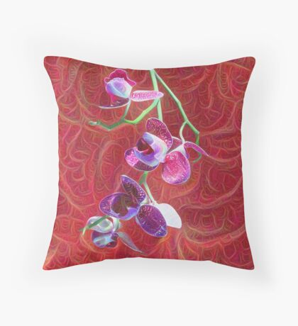 Phalaenopsis B Throw Pillow
