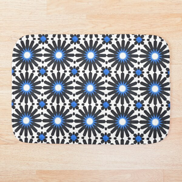 Geometric Traditional Moroccan Alhambra Andalusian Style Bath Mat