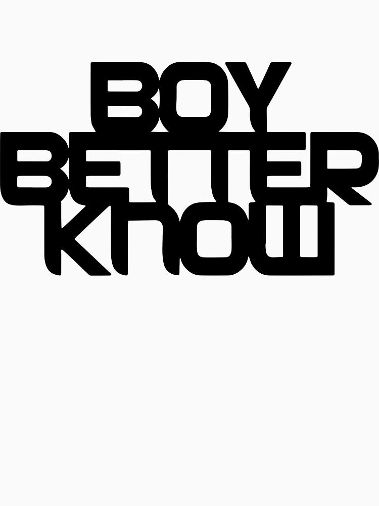 Boy Better Know - Chest Placement (black) | Unisex T-Shirt