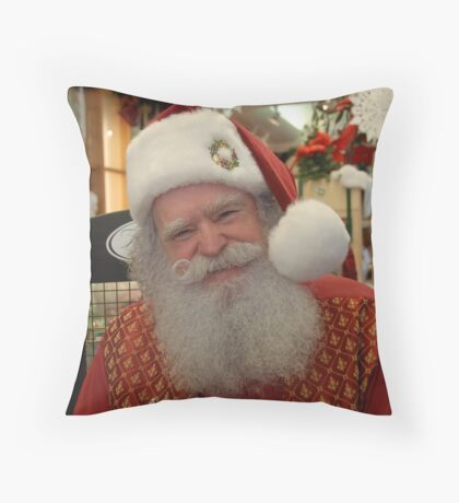 He does exist.... Throw Pillow