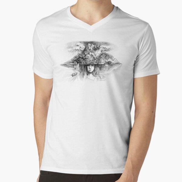 Samothraki - die Insel der Träume T-Shirt mit V-Ausschnitt