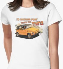 Id rather play with my Thing Womens Fitted T-Shirt