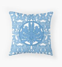 Anémones bleues Throw Pillow