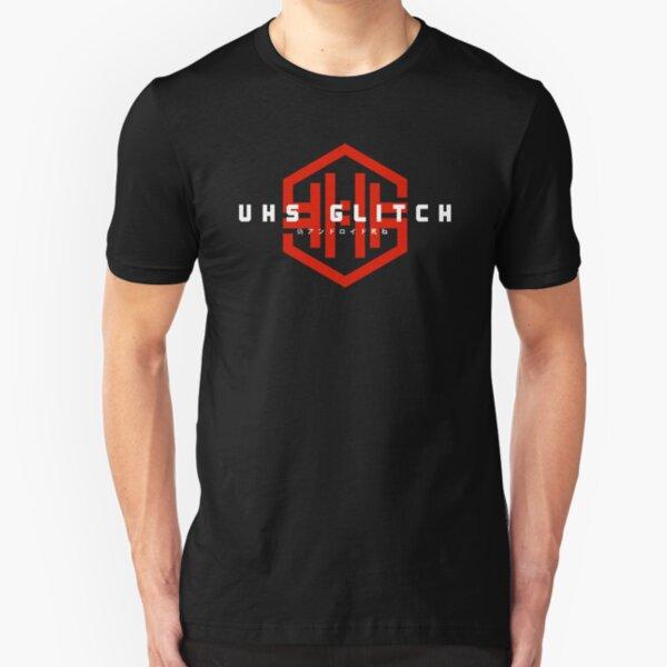 VHS Glitch - The Symbol - Full RED Slim Fit T-Shirt