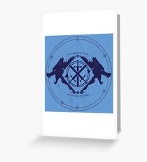 Strength of the Wolf [D.Blue / L.Blue] Greeting Card